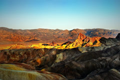 Death Valley, Zabriskie Point Sunrise Royalty Free Stock Photos