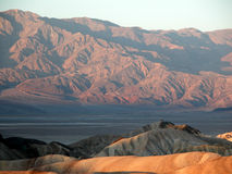 Death Valley from Zabriskie Point at sunset Stock Photos