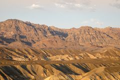 Zabriskie Point at sunset Royalty Free Stock Photography