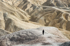 Death Valley Zabriskie punkt Arkivbilder