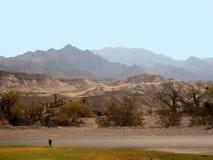 Death- Valleynachtisch und -berge Lizenzfreie Stockfotos