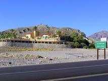 Death- Valleyoase im Ofen-Nebenfluss-Hotel, Kalifornien stockfotografie
