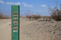 Death- Valleyzeichen Stockbilder