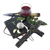 Death of a vampire 2. Set of vampire killer objects isolated Stock Images