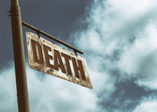 Death Vintage Rusted Sign Royalty Free Stock Image