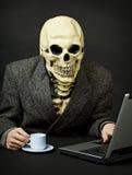 Death walks in Internet Royalty Free Stock Photos