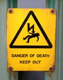 Death warning. Got to heed this one Royalty Free Stock Photo