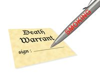 Death warrant smoking Royalty Free Stock Photo