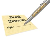 Death warrant speeding royalty free illustration