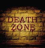 Death zone blood text Stock Photos