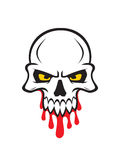 Deaths head. Vector illustration of a deaths head. Horror picture Royalty Free Stock Images