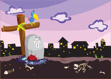 Deathstone and cross Royalty Free Stock Photo