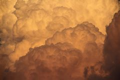 Deatil of Cumulonimbus Clouds Royalty Free Stock Image