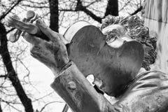 Deatil de monumet de straus de Johan photos libres de droits