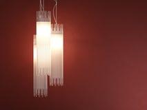 Deatil do projeto interior da lâmpada tubular fotografia de stock royalty free