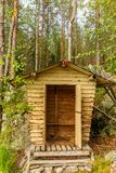 Deatil of an old wooden changing cabin on the shore of the Saimaa lake in Finland - 1 royalty free stock images