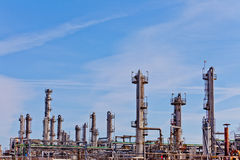 Deatil of petrochemical refinery plant Royalty Free Stock Photo