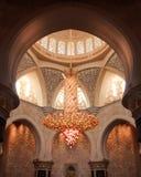 Deatiled strzelał historycznego meczetowego abu dhabi zdjęcie stock