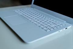 White laptop keyboard Royalty Free Stock Photography