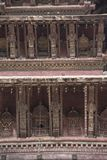 Architectural details of Nyatpola Temple in Bhaktapur Durbar Square, Nepal Royalty Free Stock Images