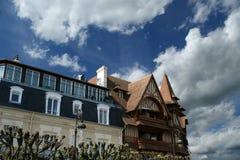 Deauville, Basse-Normandieregion in nordwestlichem Frankreich Lizenzfreie Stockfotografie