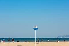 Deauville beach in autumn Stock Photography