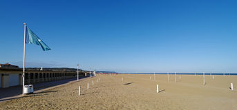 Deauville beach in Normandy Royalty Free Stock Image