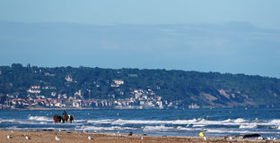 Deauville beach in Normandy Stock Photos