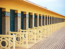 Deauville, changing rooms Royalty Free Stock Photography
