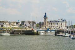 Deauville el puerto del yate Fotos de archivo libres de regalías