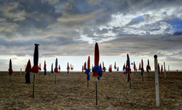 Deauville, France. City of Deauville, France, beach Royalty Free Stock Photo