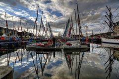 Deauville, France. City of Deauville, France, boats in harbour Royalty Free Stock Images
