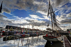 Deauville, France. City of Deauville, France, boats in harbour Stock Photo