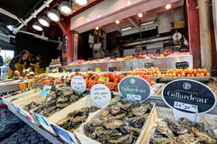 Deauville, France. City of Deauville, France, market in Trouville Royalty Free Stock Photos