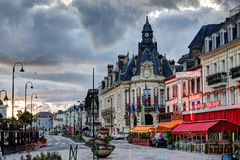 Deauville, France. City of Deauville, France, road in Trouville Stock Photos