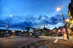 Deauville, France. City of Deauville, France, road in Trouville Royalty Free Stock Photography