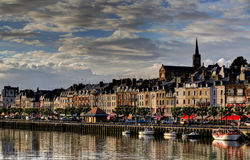 Deauville, France. City of Deauville, France, road in Trouville Royalty Free Stock Photos