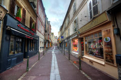 Deauville, France. City of Deauville, France, road in Trouville Royalty Free Stock Photo