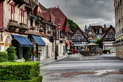 Deauville, France. City of Deauville, France, square and fountain Royalty Free Stock Photos