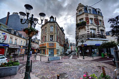Deauville, France. City of Deauville, France, square in Trouville Royalty Free Stock Photos