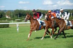 deauville france hästkapplöpning Arkivfoton