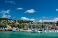 Deauville harbour royalty free stock photos