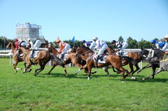 Deauville horse races Stock Photos