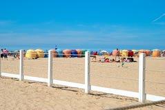 Deauville plaża, Normandy, Francja Obraz Royalty Free