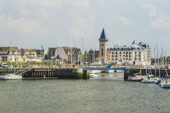 Deauville the yacht harbor Royalty Free Stock Photos