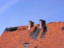 deavastated крыша Стоковые Изображения