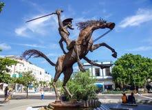 Debajo de la sombra de Don Quichotte imagen de archivo libre de regalías