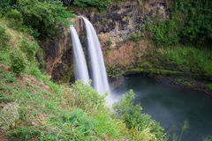 Debajo de las caídas de Wailua Fotos de archivo
