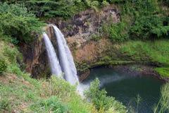 Debajo de las caídas de Wailua Imagen de archivo