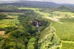 Debajo de las caídas de Wailua Fotografía de archivo libre de regalías